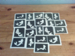 30 x Mermaid themed stencils for glitter tattoos / airbrush tattoos / henna / cakes / etching / many other uses  fund raising girls